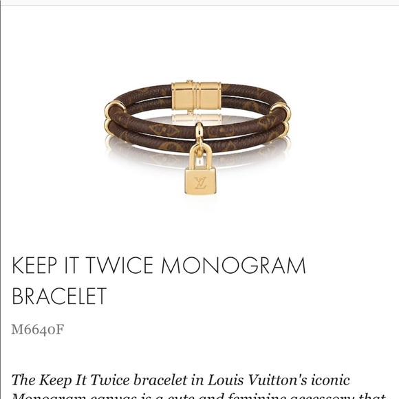 29b5ff4ee9 LV Keep it Twice Monogram Bracelet